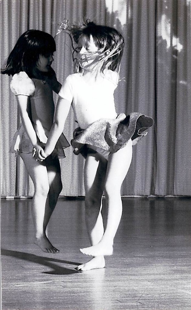 black and white two girls dance