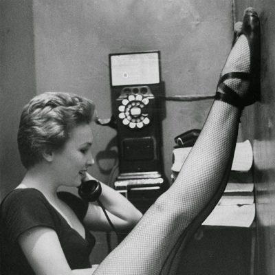 dancer on phone