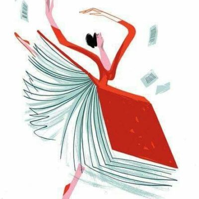 dancer with book